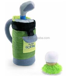My First Golf Bag Plush Playset/ Stuffed Golf Bag/ Soft Sport Toy