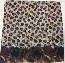 PG2953 America scarf leopard and floral mixed print scarf