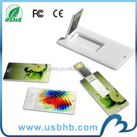 full color 4gb credit card usb flash drive with OEM and ODM service