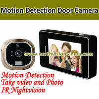 3.0inch LCD motion detection door peephole camera with nightvision and doorbell