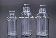 Food Grade Fruit Juice and beverage bottle with Plastic Material Clear Color