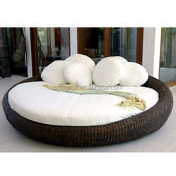 2015 All weather Furniture Outdoor Wicker Round Day Bed