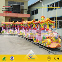 WangDong children park riders outdoor electric mall trains/kids electric amusement train rides for sale