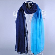 Gradient many colors cotton voile hijab tudung on stock