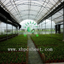 UV protected green house makrolon material 8mm hollow PC polycarbonate panels