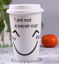 hot sale 13oz custom ceramic coffee mug with silicone lid
