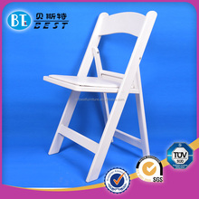 High quality wood hotel wholesale white resin folding chair