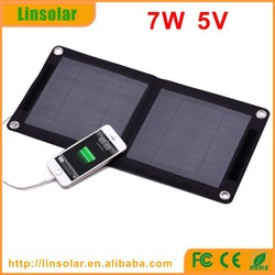 Best quality solar power 5v 7w solar mobile charger bag for smartphone