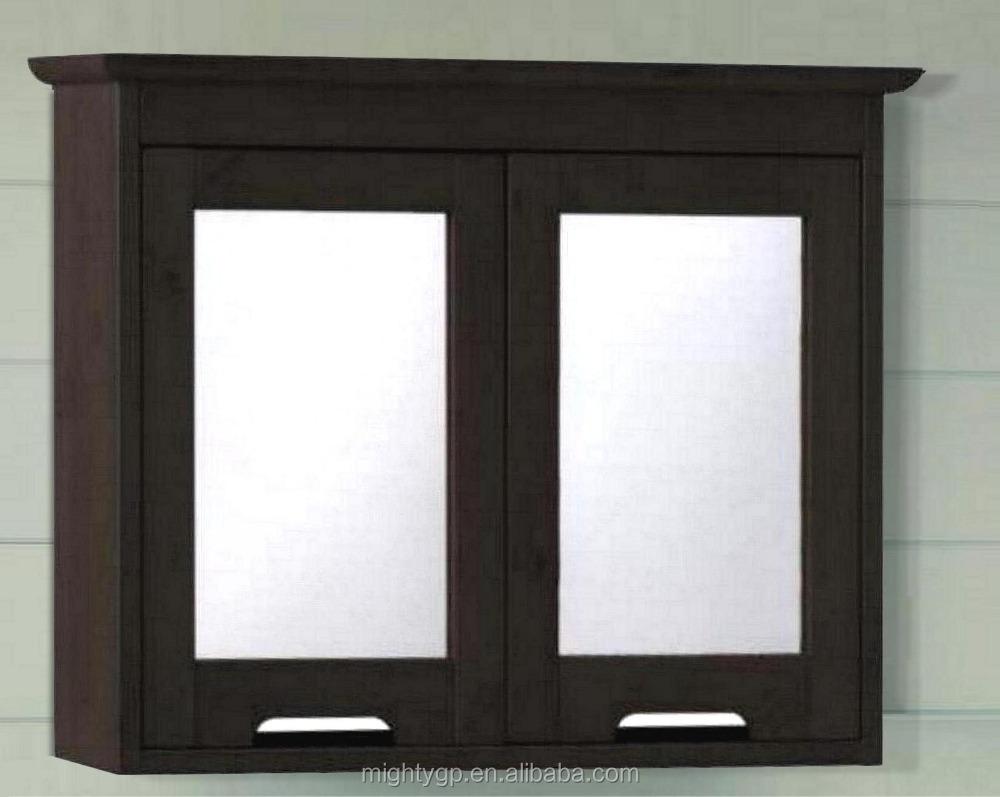 no tools assembly espresso bathroom double mirror door