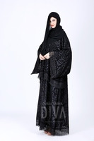 2015/2016 New design abaya - fashion design lace dubai abaya - DA-101 Carnation