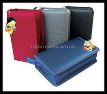 Good quality stock cd bags/cd dvd wallet with zipper many designs