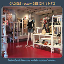High end quality table top rotating display stand for clothes store display
