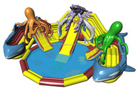 Latest inflatable lobster/octopus water slide