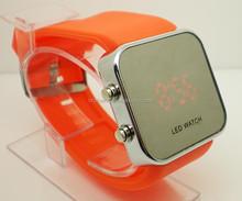 Sport orange Gel Silicone Date Touch Screen Digital LED Men's Women's Teen Unisex Watch Clock