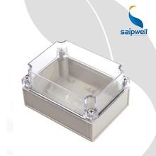 Saip/Saipwell Junction Box Type Din Rail PLC Enclosure Plastic Fan Box Wholesale IP65 Waterproof Electrical Junction Boxes