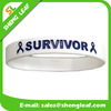 Custom silicone bracelet debossed logo with color filed