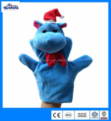 2014hot selling plush dinosaur hand puppet for Christmas