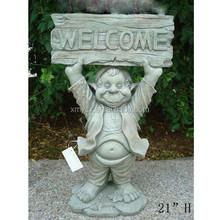 Fiberglass garden decoration welcome lady statue for sale