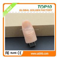 2015 fresh great quality free logo free sample wonderful golden finger U disk