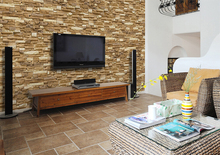 Hot sale TV wallpaper with Moisture-Proof of schist design for living room