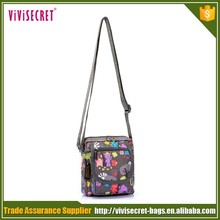 alibaba nylon fabric cute mobile phone school messenger shoulder bag for girls