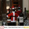 Alibaba express handmade Christmas Santa suit wine bottle cover for promotion