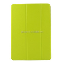 tri folding slim pu leather tablet case,for ipad 6 leather case