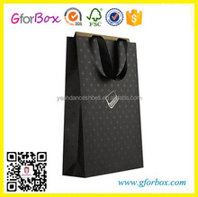 Black Printed Paper Bag High Quality Paper Shopping Bag