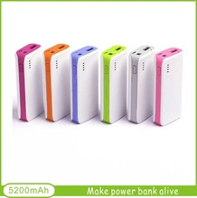 power bank 5200mAh rechargeable battery pack for mobile phones