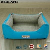 Light blue cool mat material dog bed for hot season