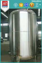 Sanitary grade stainless steel insulated biodiesel storage tanks