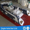 4.7m fiberglass hull high pressure pvc inflatable fishing boat with console