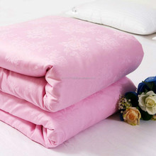 100% silk quilts with lace, elegant solid color (Filler 3 kg)