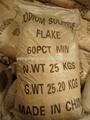 Precio competitivo de sulfuro de sodio( ss) 60% min 30-1500ppm copos