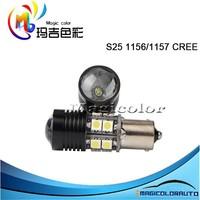 White 1156/P21W 1157/PY21W S25 C REE led lights bulbs Car Reverse Backup Stop Lamps