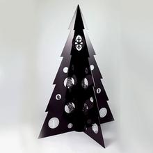 Fashionable supermarket paper display christmas tree