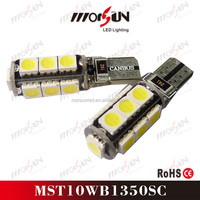 13 SMD 5050 led T10 canbus led bulbs, canbus w5w led bulbs 12V for auto accessories