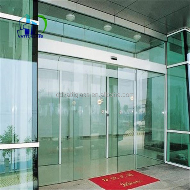 Tempered glass sliding glass barn doors sliding glass door for Motorized sliding glass door