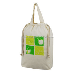 Drawstring cotton shopping bags/2015 hot sale shopping bag