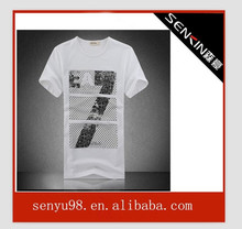 basketball rhinestone t shirt t shirt guangzhou 2012 latest men's t shirts