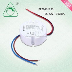 3-7W triac dimmable led down light driver/300MA dimming driver