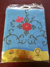 The Best Fashion sunflower flower embroidered 3pcs bedding sheet Design with 100% polyester