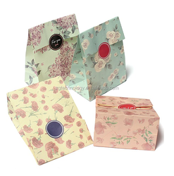 Hot sale recyclable medium hand length handle paper gift bags packaging bag Wrap Bag Bags+Stickers