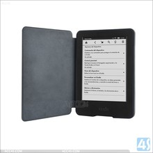 Black color PU leather smart cover for kindle paperwhite 2015 version