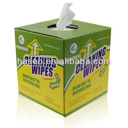 Household nonwoven cellulose polyester wipes