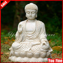 Hand carved white marble large buddha statues for sale