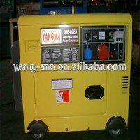 (6GF-LDE) Home used air cooling single cylinder electric soundproof/ silent automatic start diesel genset 6kva 220v