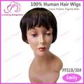 Elegancia de lujo de 100% malasio del pelo humano corto Cap peluca de pelo venta