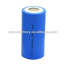 Long life high capacity IFR 3.2V 32650 5500mAh round cell rechargeable battery