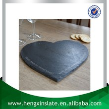Hot Selling Wholesale 30*30*0.5cm Heart Shape Slate Plate Stone Plate Slate Cheese Board With Laser Design(Customized)